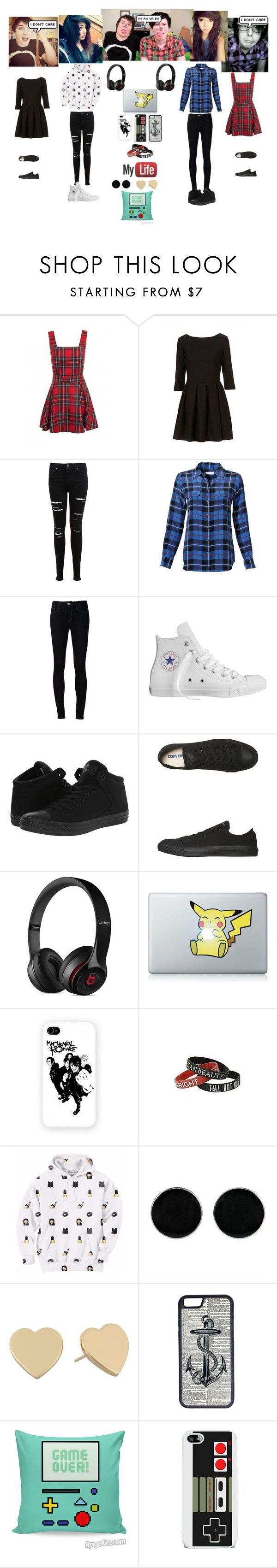 """Genderbend Dan and Phil"" by jana-c ❤ liked on Polyvore featuring Miss Selfridge, Equipment, Ström, Converse, Beats by Dr. Dre, Aloha From Deer, AeraVida, Kate Spade and CellPowerCases"