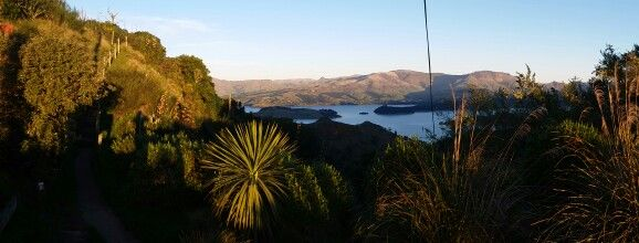 Looking over to governors bay from summit road. .Christchurch