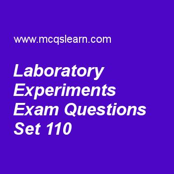 Practice test on laboratory experiments, DLD quiz 110 online. Practice digital logic design exam's questions and answers to learn laboratory experiments test with answers. Practice online quiz to test knowledge on laboratory experiments, lamp handball, state machine diagrams, rectangular shape symbols, lab learning in dld worksheets. Free laboratory experiments test has multiple choice questions as integrated circuit number 74157 has, answers key with choices as 8x1 mux, 3x8 decoder.....