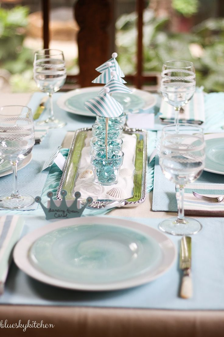 THE Greek Isles and the music of ABBA are the inspiration for this Broadway Tablescape featuring DIY party creations using a Cricut.