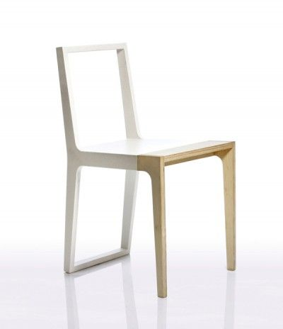 the wr02 is a minimalist chair with an interesting combination of materials beech chair aac22 azul hay