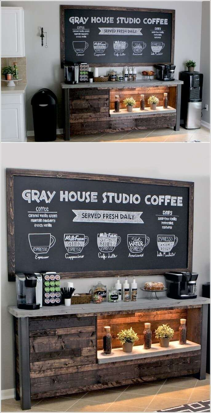 The 25+ best Coffee corner kitchen ideas on Pinterest | Keurig ...