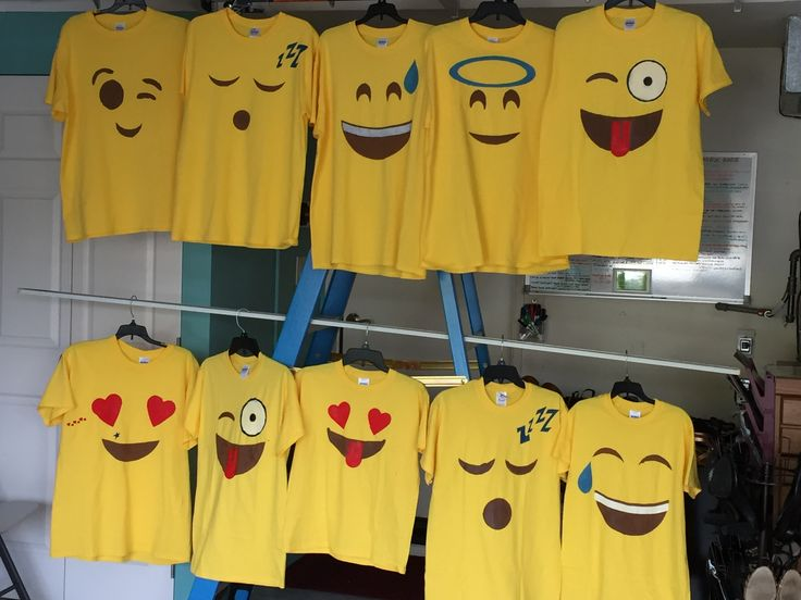 Group costume .... Hand made emoji 's!!!