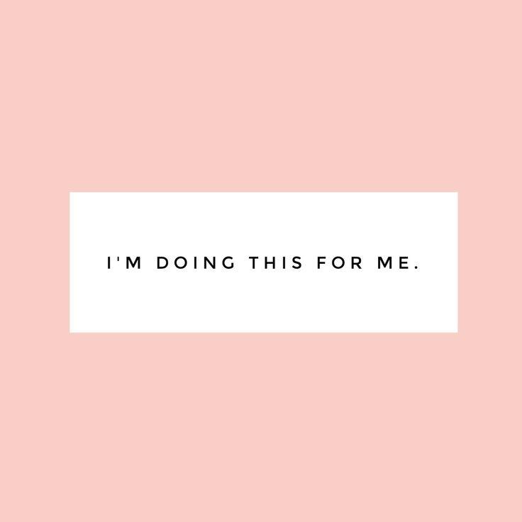 Estou fazendo isso por mim.