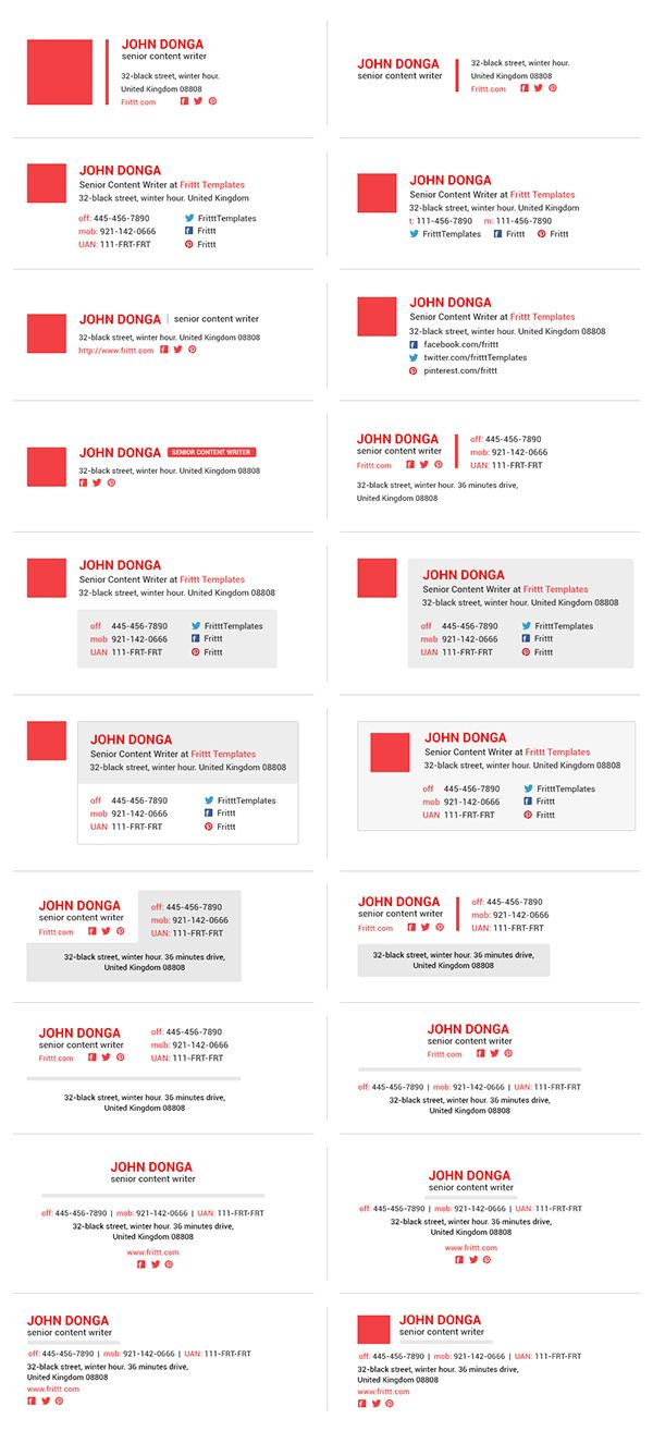 Best & Professional Email Signatures Template on Behance