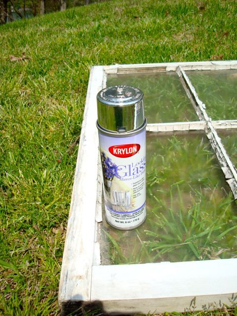 How to turn an old window into a mirror - plus a few other uses for that old windows you have stored in the back of the garage!