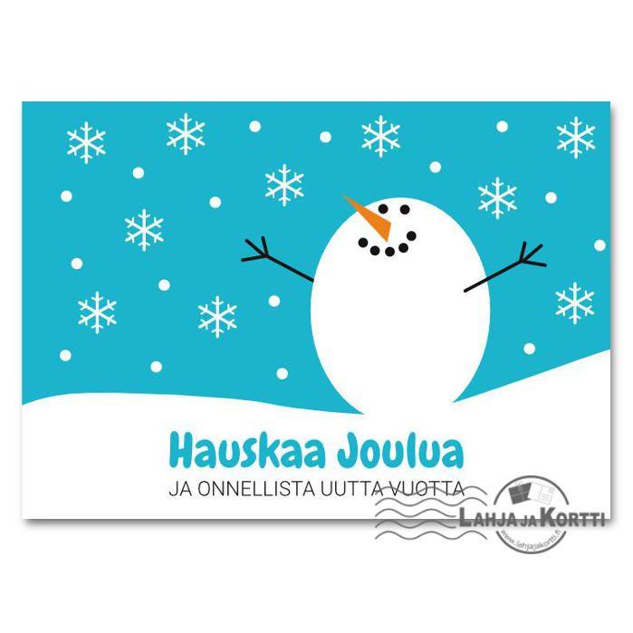 Joulukortti - Lumipalloukko