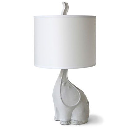 <3 this elephant lamp ...but i would spray paint it a different color.