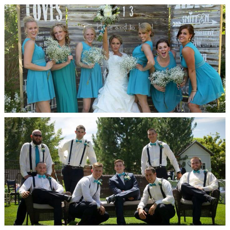Teal Navy Blue And Brown Pea Wedding Our 3 Pinterest Weddings