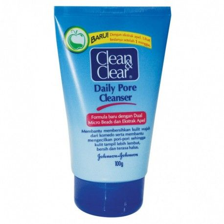 CLEAN AND CLEAR DAILY PORE CLEAN 100G : Rp 18.400