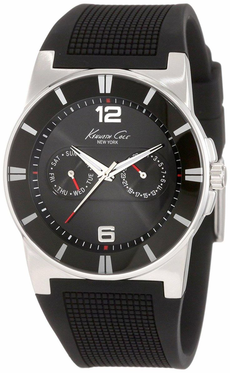 Sporty design inspired from supercars. KENNETH COLE New York KC1405-NY Sport Trend Round black Watch. Feel the speed. Feel the emotion. #KENNETHCOLE  #KhaValeri www.pinterest.com...    kha_amz_KENny0305_v34