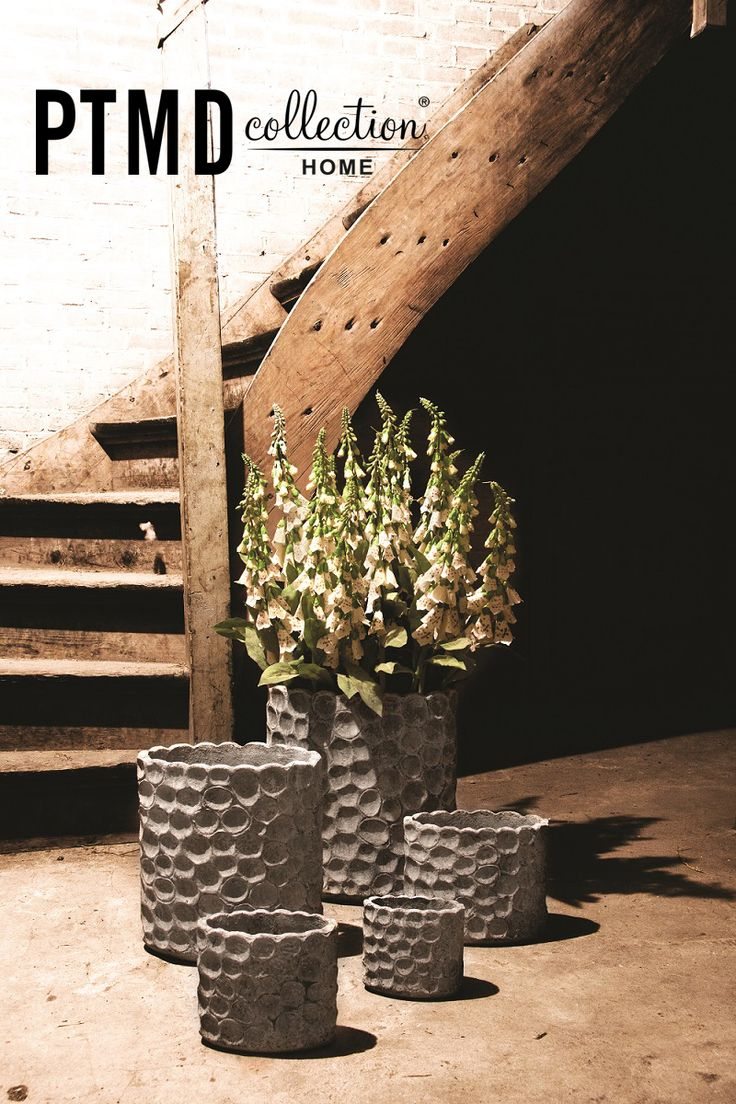 Bold Grey Collection - Round pots