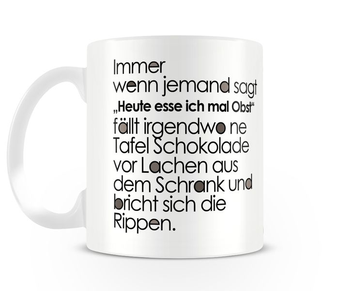 Tasse mit Spruch // cup with saying via DaWanda.com
