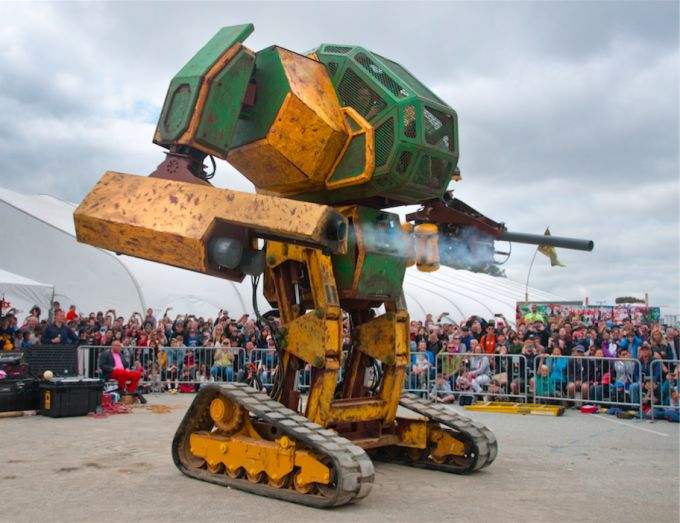 MegaBots CEO Gui Cavalcanti and a giant fighting robot are coming to Disrupt SF