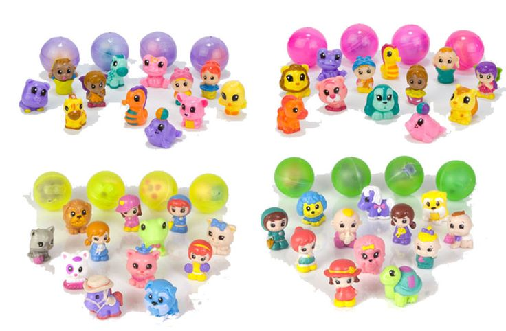 LOT OF 40PCS RANDOM SQUINKIES CHARACTERS AND 40 CONTAINERS PACK SET E #BLIPTOYS