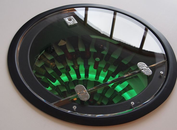 Thick Perspex Lid.Wine Cellar Pod Underground Wine Cellar, Home Wine Storage Solution, This Circular Cellar From above