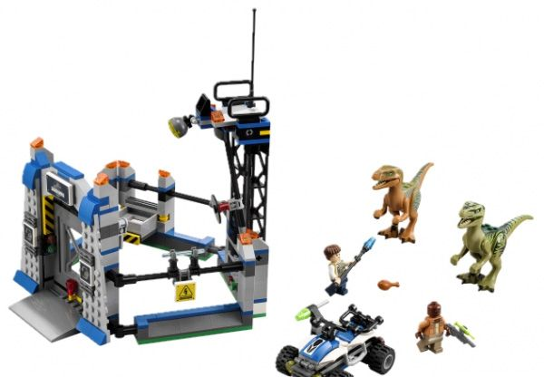 75920 LEGO Raptor Escape Jurassic World Set Echo Charlie Raptors