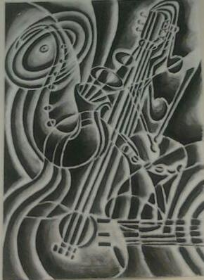 Music by Sharon Wood - charcoal on paper  Tags: art, drawing