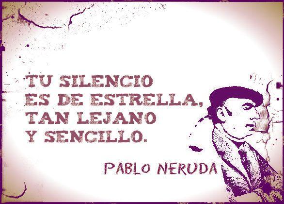 Pablo Neruda (Parral, 12 de julio de 1904 – Santiago, 23 de septiembre de 1973), fue un poeta chileno, considerado entre los mejores y más influyentes artistas de su siglo.