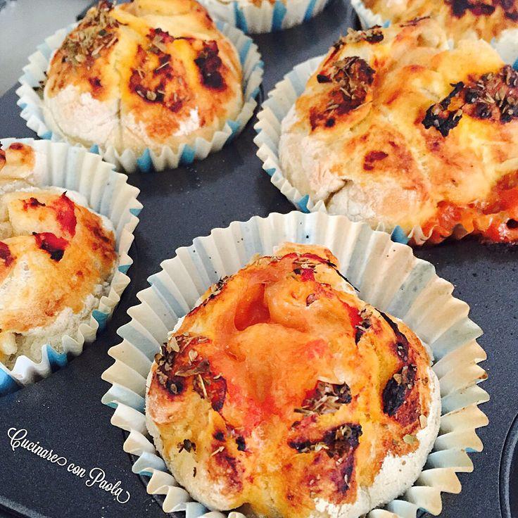#muffin #pizza ! Una ricetta che volevo provare da tempo!!buonissima!!