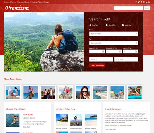 Premium a travel guide Mobile Website Template by w3layouts