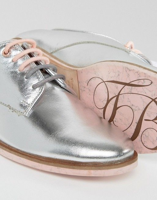 Ted Baker | Ted Baker - Loomi - Chaussures plates en cuir à lacets