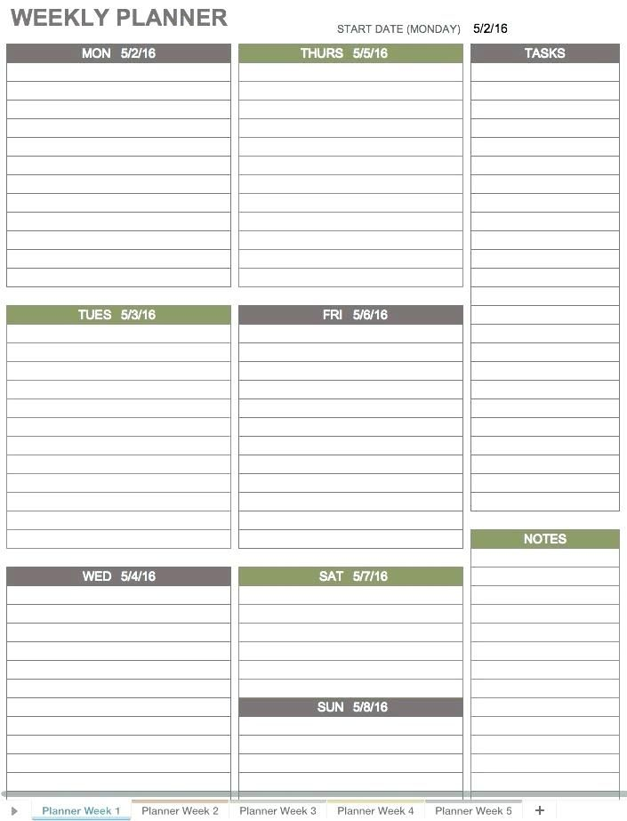 Business To Do List Template Excel Ms Weekly College Tasks