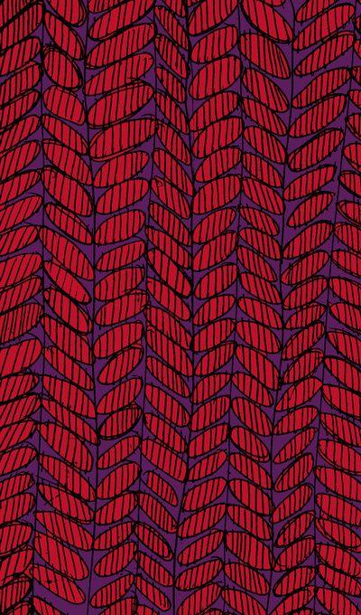 Leaves drawn and digital pattern - Sarah Bagshaw