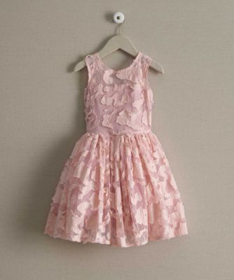 girls lace party dress - A stunning lace party dress that will inspire compliments wherever she goes. Along with its soft color, you'll see embroidered lace and an illusion neckline on the fitted bodice. The full gathered skirtflares out when she twirls.
