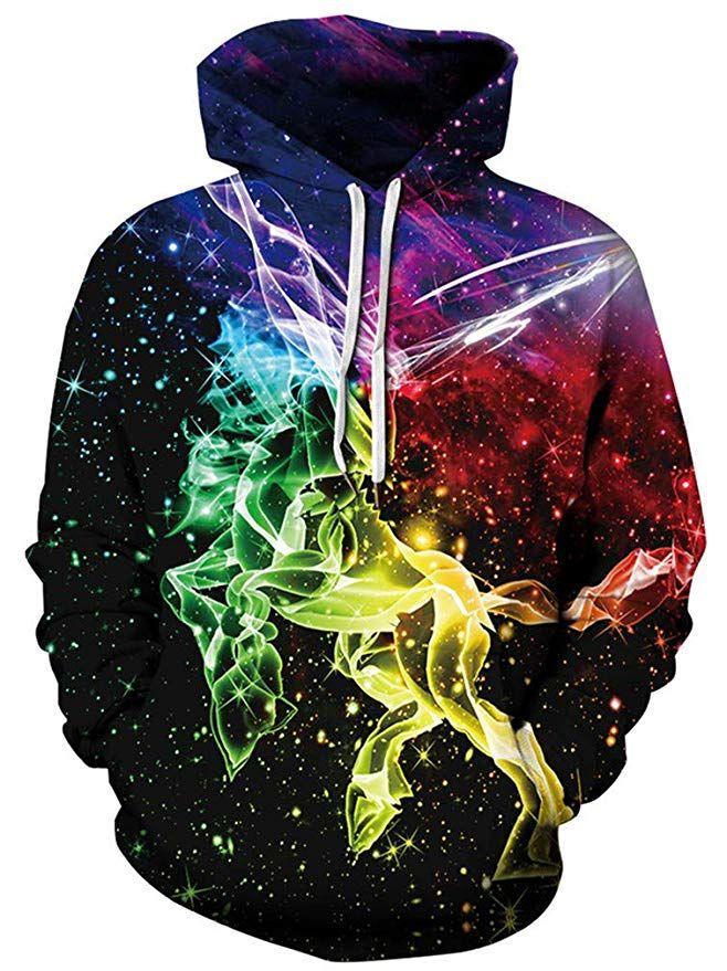 Kids Sweatshirt Hoodie Art Digital Print Unisex Pullover Sweater Loose Plus Size