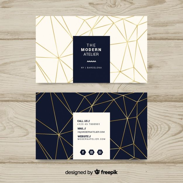 Download Modern Business Card Template With Geometric Shapes For Free Modern Business Cards Business Card Design Creative Graphic Design Business Card