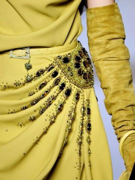 Détail d'une robe Christian Dior !