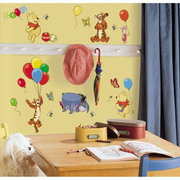 Perfect 38 WINNIE THE POOH WALL DECALS Tigger Eeyore Stickers Disney Room  Decorations #Roommates Part 29