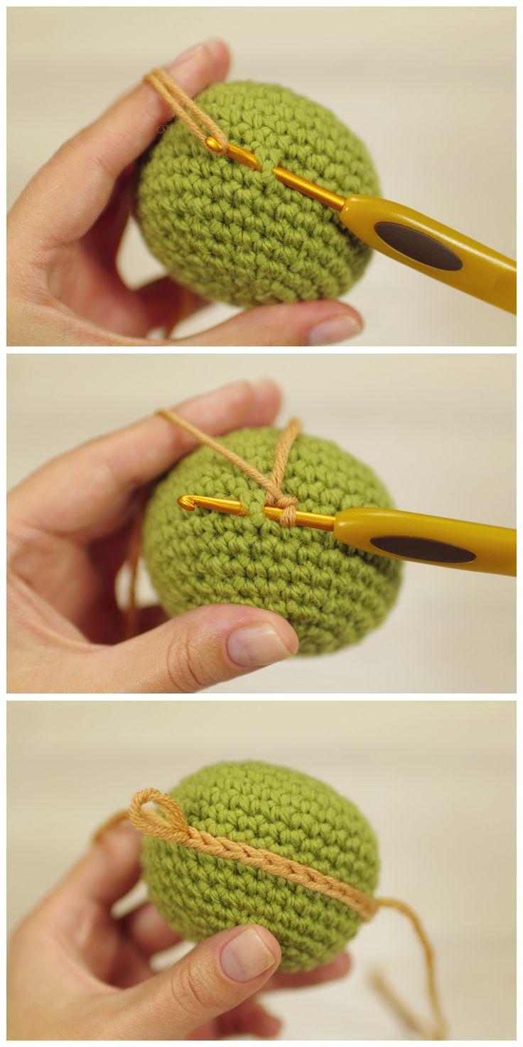 Crochet surface stitching // Kristi Tullus (sidrun.spire.ee)