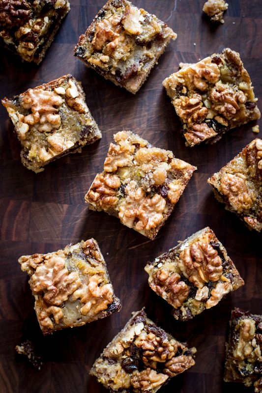 Maple Walnut Cookie Bars with Raisins | Healthy Seasonal Recipes | Are less-refined sugars healthier than refined sugars?