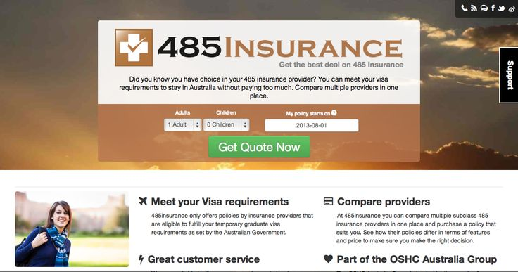 It is compulsory for 485 visa holders to have health insurance. We provide the cheapest insurance for you. To buy please go to  https://485insurance.com.au/en?c=pinterest