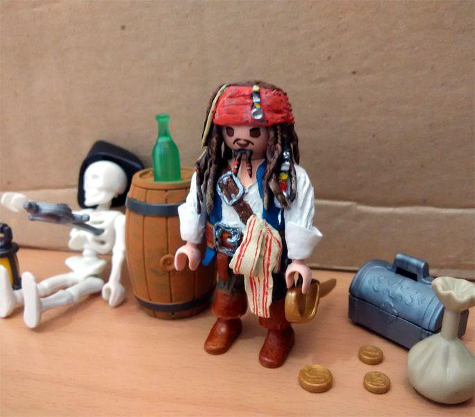 Playmobil capitan Jack Sparrow piratas caribe
