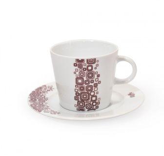Tazzina da caffè Q-Deco Tazzina per espresso collezione Q-Deco, ispirata all'Art-Decò.  In porcellana liscia bianca dipinta a mano e completa di piattino.  Capacità: 100ml - Diametro: 12cm  E' possibile lavarla in lavastoviglie ed è resistente al forno a microonde.  #aurile #FMGroup #FMGroupItalia #coffee #caffè #coffeebreak
