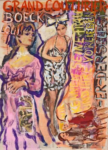 "Saatchi Art Artist Ahmed Borai; Painting, ""Witwe Bolte - Newspaper Art Novel - #08"" #art"