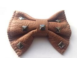 BROWN handmade leather bow tie from www.solace-designs.com