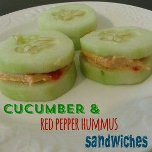 3 Day Refresh Recipes: Cucumber Hummus Sandwiches. Get MORE recipes here!