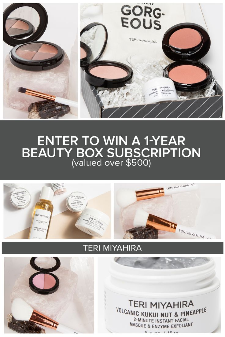 Hi friends check out this Huge TERI MIYAHIRA Giveaway! Win a 1-Year Subscription to our Monthly Beauty Box!