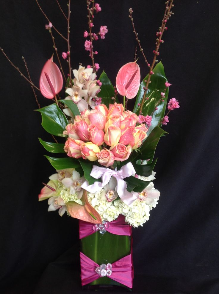 Send the Arrangement 66 bouquet of flowers from Flowers and Designs by Gina in Tarzana, CA. Local fresh flower delivery directly from the florist and never in a box!