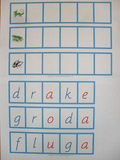 Min blogg om allt mellan himmel och jord: Nytt Montessorimaterial bygga blå ord med 5 bokstä...