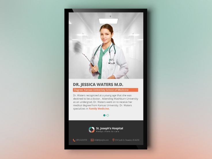 Hospital Portrait for Digital Signage