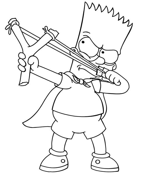 Bart And Slingshot Bart Simpson Drawing Simpsons Drawings Bart Simpson