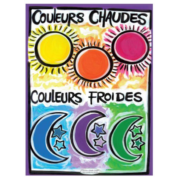 Affiche couleurs chaudes et froides