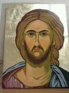 Ιησούς Χριστός Αυγοτέμπερα σε μέγεθος 30*40
