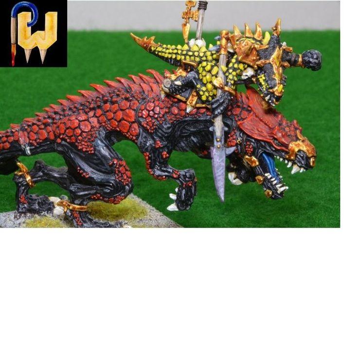 Warhammer Army AOS Seraphon Lizardmen Metal Oldblood On Carnosaur Painted