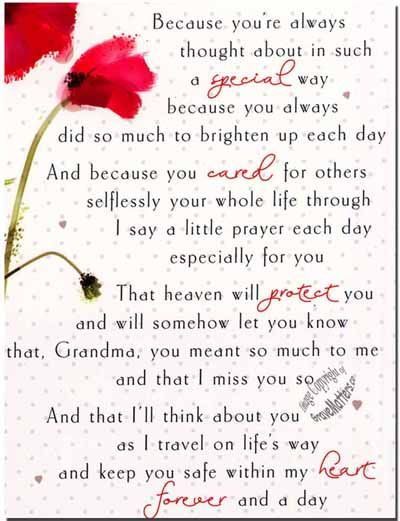 grandmother poems for funeral - Google Search